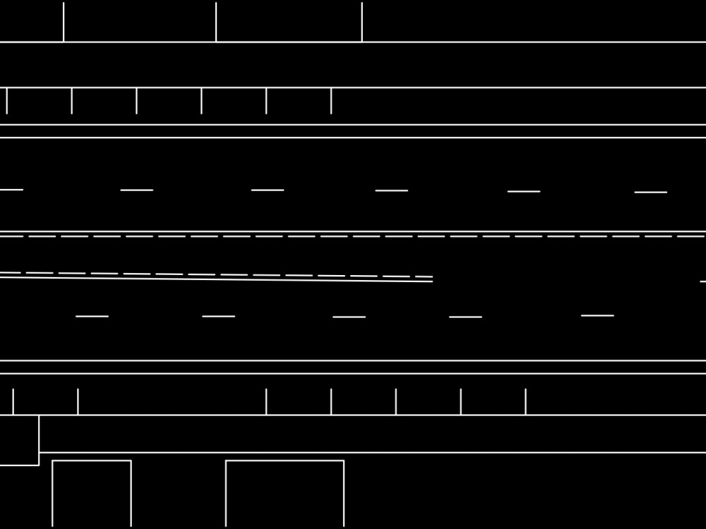 We produced a variety of traffic alignment options incorporating bike lanes into the system.