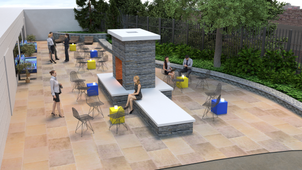 One of the proposed garden settings.